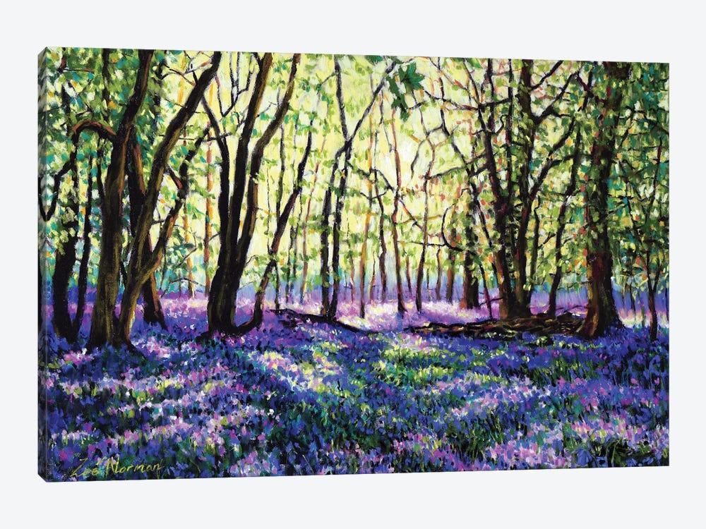 Bluebell Glade by Zoe Elizabeth Norman 1-piece Canvas Artwork