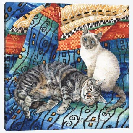 Bonnie And Bramble Canvas Print #ZEN14} by Zoe Elizabeth Norman Canvas Wall Art