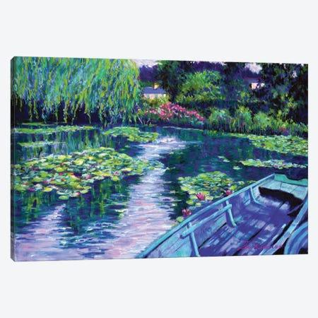 Boats At Giverny Canvas Print #ZEN16} by Zoe Elizabeth Norman Canvas Art