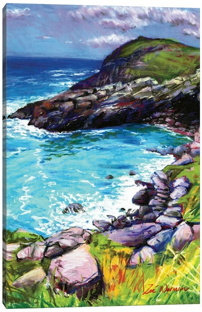 Cove At Tintagel Canvas Art Print