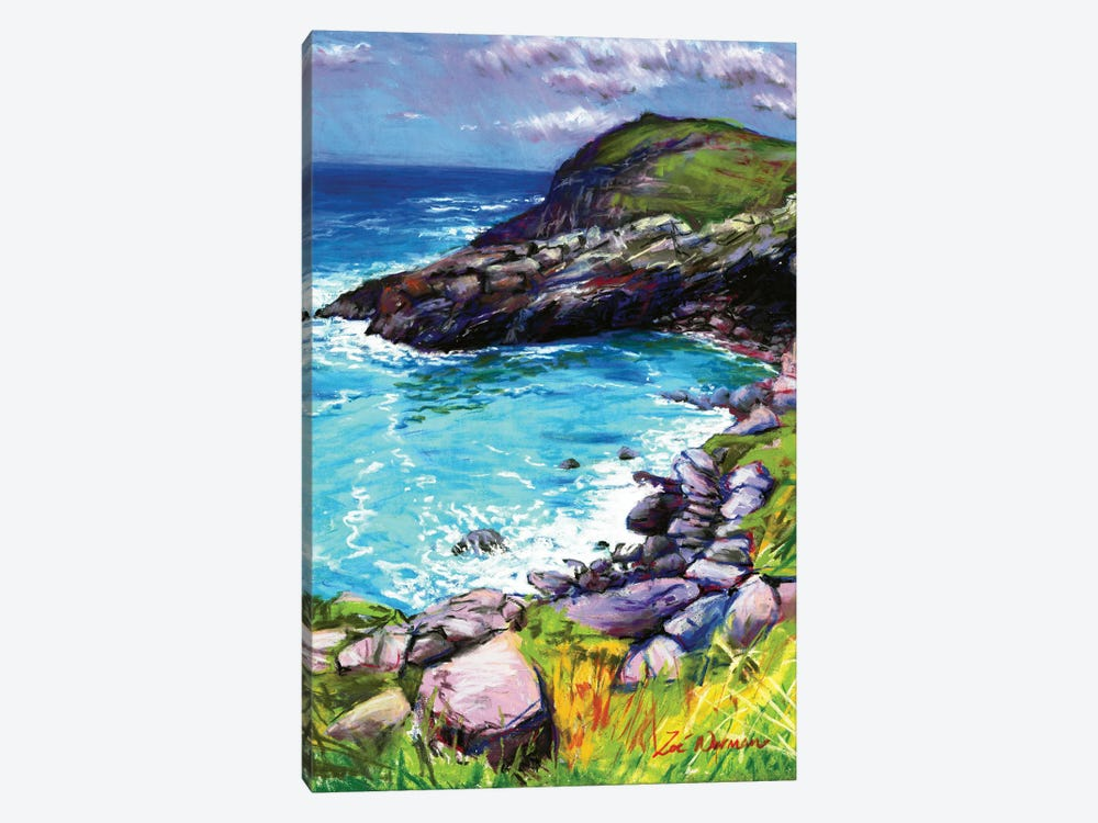 Cove At Tintagel by Zoe Elizabeth Norman 1-piece Canvas Print