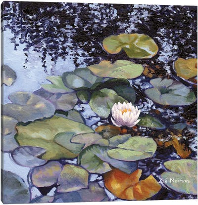 Water Lily At Giverny Canvas Art Print