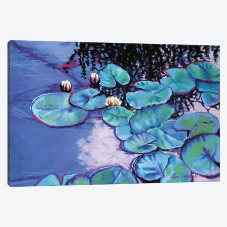 Summer Water Lilies Canvas Print #ZEN27} by Zoe Elizabeth Norman Canvas Print