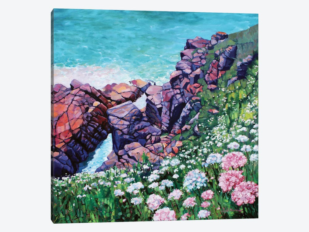 Cornish Cliffs by Zoe Elizabeth Norman 1-piece Canvas Art