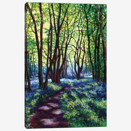 May Bluebells Canvas Print #ZEN37} by Zoe Elizabeth Norman Canvas Art