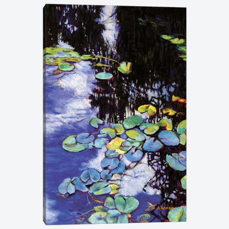 Monet's Garden-Lily Pads Canvas Print #ZEN38} by Zoe Elizabeth Norman Canvas Print