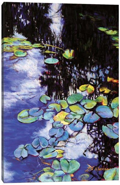 Monet's Garden-Lily Pads Canvas Art Print