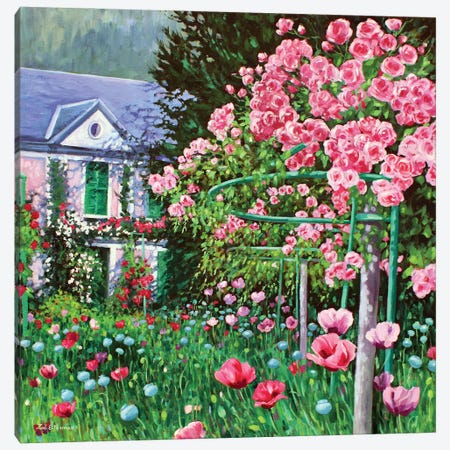Monet's Roses Canvas Print #ZEN39} by Zoe Elizabeth Norman Canvas Art Print