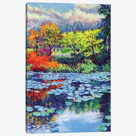 Monet's Water Lily Garden Canvas Print #ZEN41} by Zoe Elizabeth Norman Canvas Wall Art