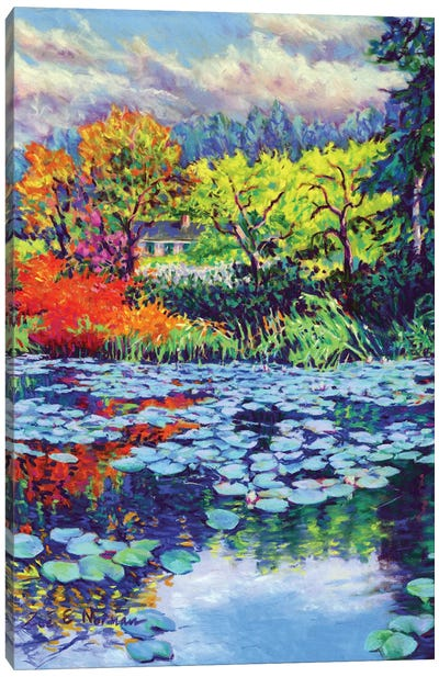 Monet's Water Lily Garden Canvas Art Print