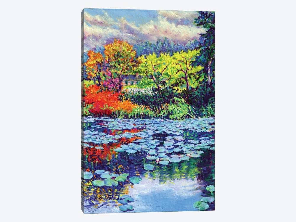 Monet's Water Lily Garden by Zoe Elizabeth Norman 1-piece Canvas Art