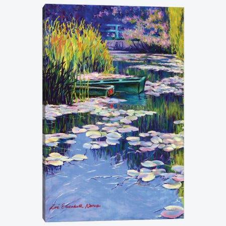 Moored Boats At Giverny Canvas Print #ZEN43} by Zoe Elizabeth Norman Canvas Wall Art