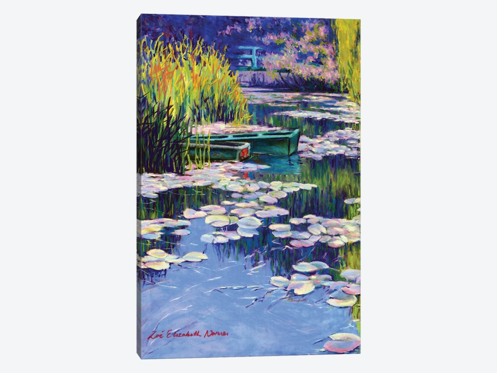 Moored Boats At Giverny by Zoe Elizabeth Norman 1-piece Canvas Wall Art