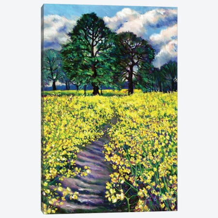 Spring Fields Canvas Print #ZEN58} by Zoe Elizabeth Norman Art Print