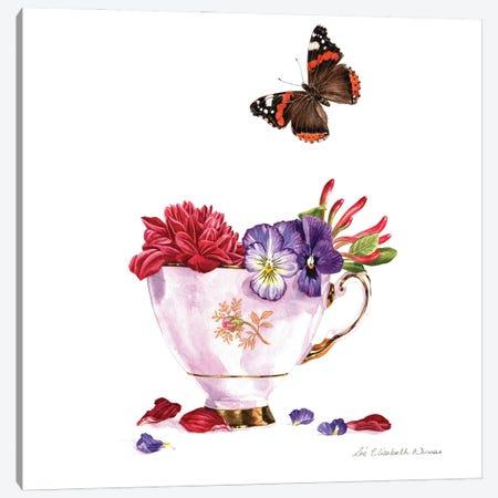 Autumn Tea Cup Canvas Print #ZEN5} by Zoe Elizabeth Norman Canvas Artwork