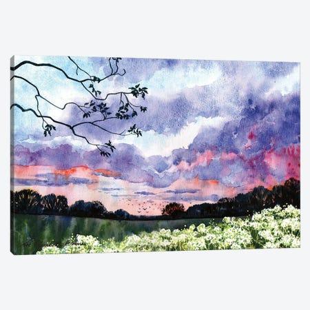 Summer Evening Canvas Print #ZEN60} by Zoe Elizabeth Norman Canvas Art
