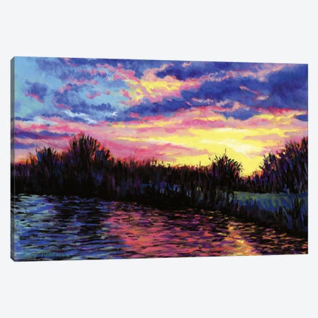 Sunset Over The Norfolk Broads Canvas Print #ZEN62} by Zoe Elizabeth Norman Canvas Art