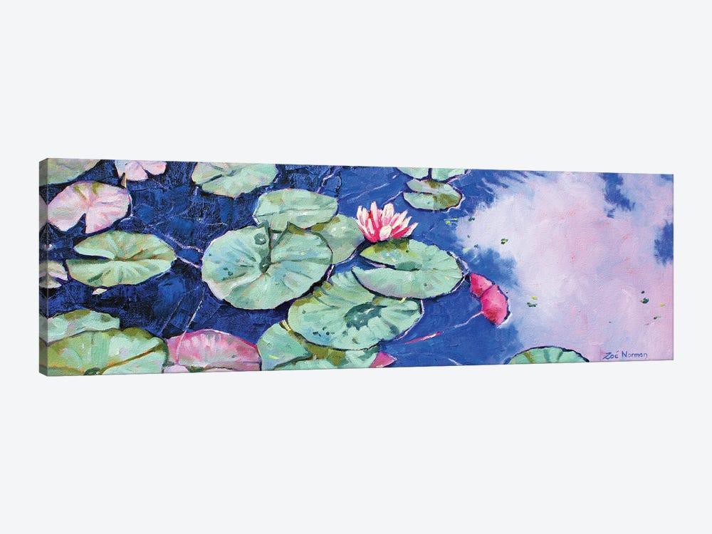 Tranquil Waterlilies by Zoe Elizabeth Norman 1-piece Canvas Wall Art