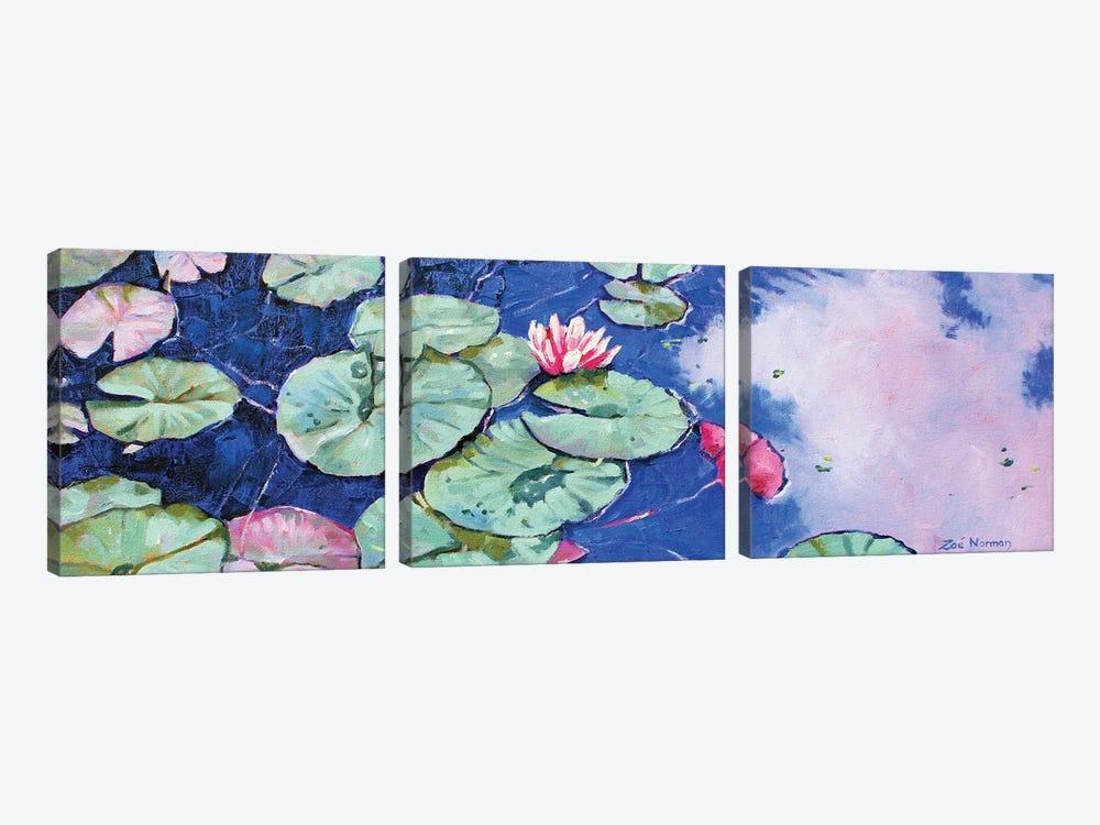 Tranquil Waterlilies by Zoe Elizabeth Norman 3-piece Canvas Wall Art