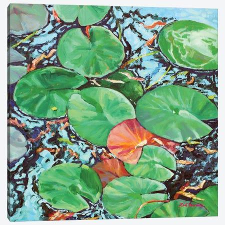 Water Lily Pads Canvas Print #ZEN68} by Zoe Elizabeth Norman Canvas Wall Art