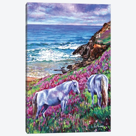 Wild Ponies Canvas Print #ZEN69} by Zoe Elizabeth Norman Canvas Wall Art