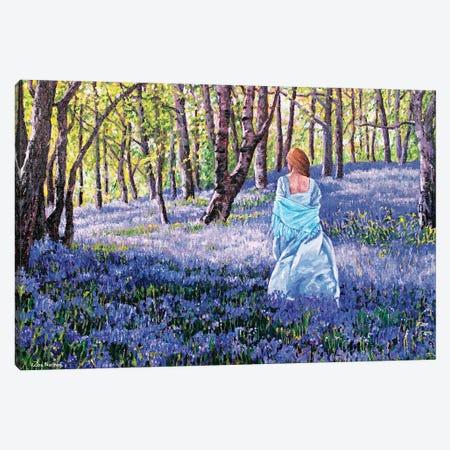 Through the Bluebells Canvas Print #ZEN75} by Zoe Elizabeth Norman Canvas Art