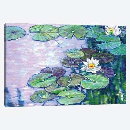 White Water Lilies Canvas Print #ZEN87} by Zoe Elizabeth Norman Art Print