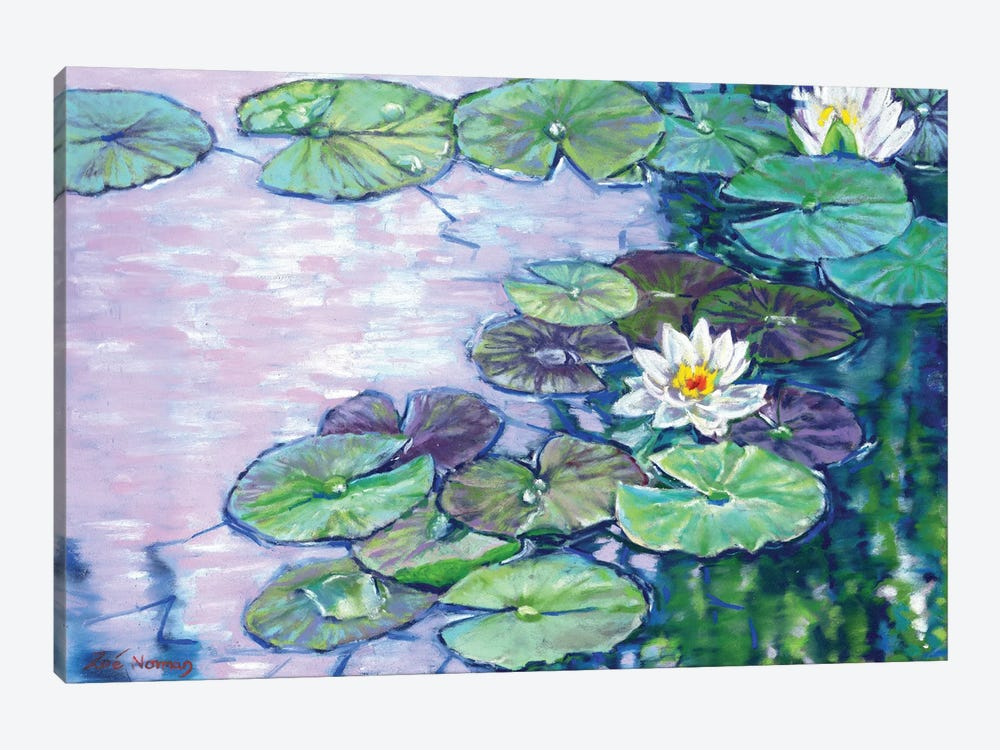 White Water Lilies by Zoe Elizabeth Norman 1-piece Canvas Wall Art