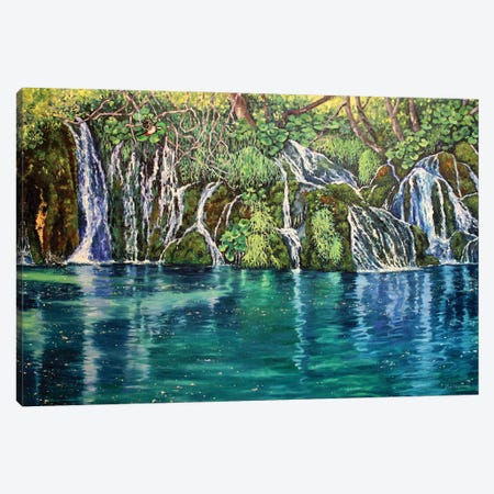 Hidden Pool Canvas Print #ZEN96} by Zoe Elizabeth Norman Canvas Artwork