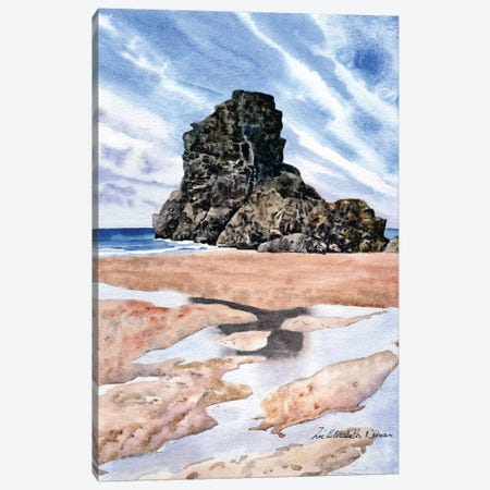Beach Reflections Canvas Print #ZEN9} by Zoe Elizabeth Norman Art Print