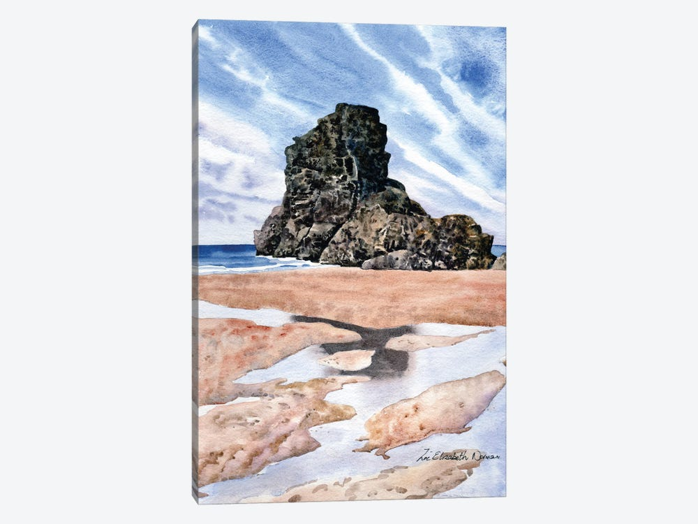 Beach Reflections by Zoe Elizabeth Norman 1-piece Canvas Print