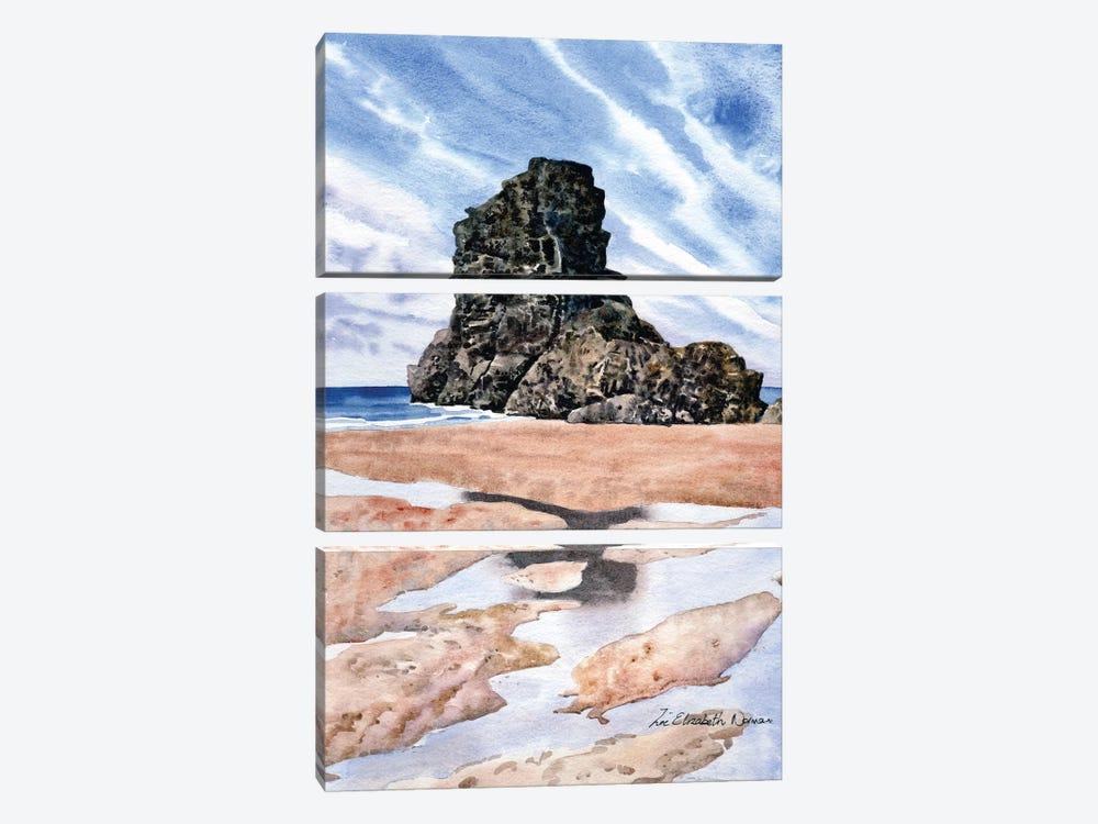 Beach Reflections by Zoe Elizabeth Norman 3-piece Canvas Art Print