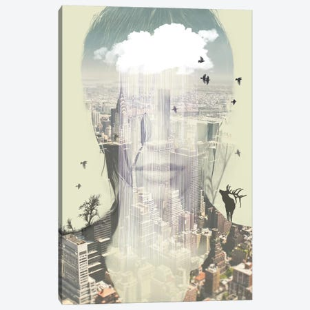 Wild New York Canvas Print #ZEP107} by Vin Zzep Canvas Print