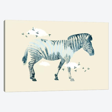 Zebra Dreaming Canvas Print #ZEP108} by Vin Zzep Canvas Artwork