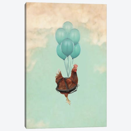 Chickens Can't Fly I Canvas Print #ZEP118} by Vin Zzep Canvas Art Print