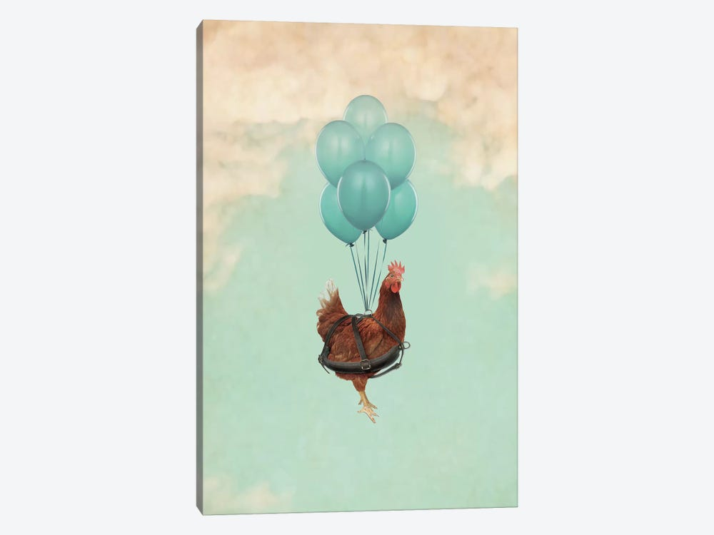 Chickens Can't Fly I 1-piece Canvas Artwork