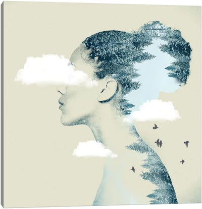 Double Exposure Hair I Canvas Art Print