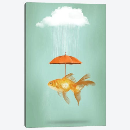 Fish Cover III Canvas Print #ZEP129} by Vin Zzep Canvas Artwork