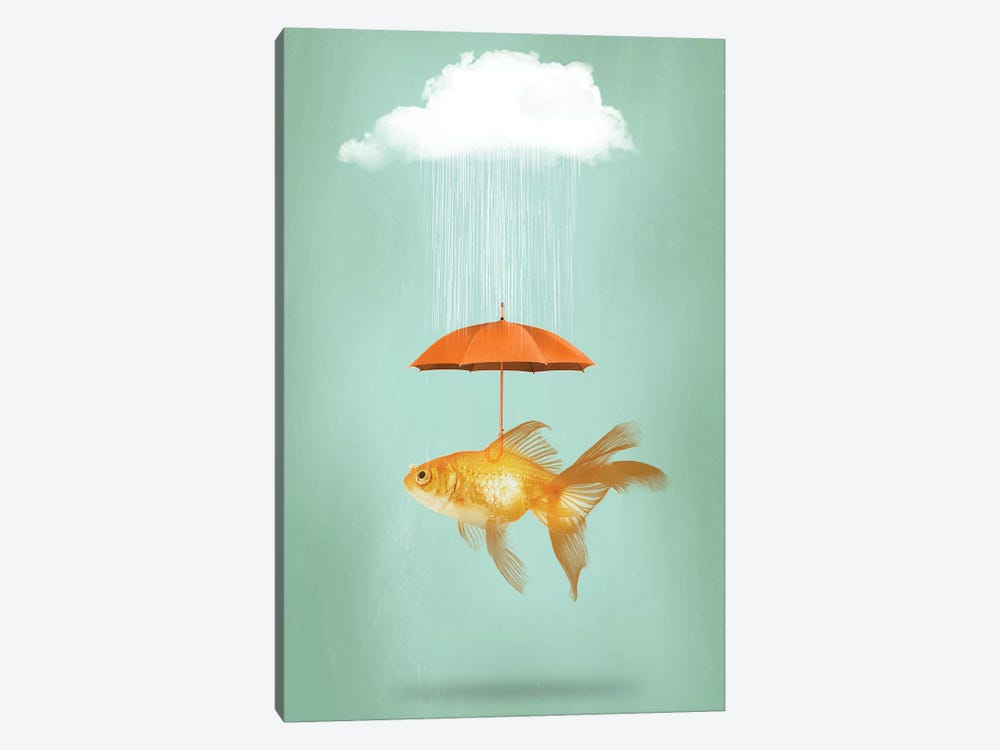 Fish Cover III by Vin Zzep 1-piece Canvas Art