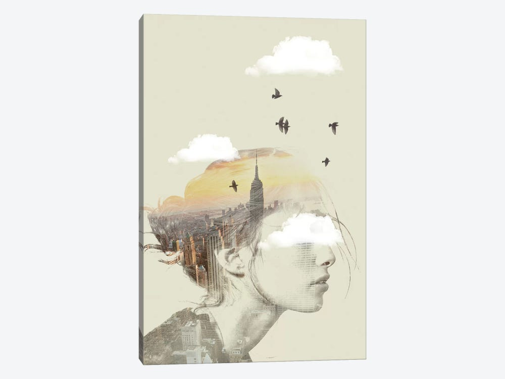 Double Exposure Hair II by Vin Zzep 1-piece Canvas Artwork
