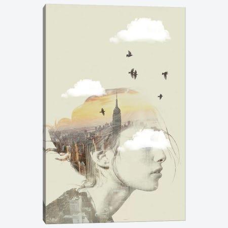 Double Exposure Hair II Canvas Print #ZEP12} by Vin Zzep Canvas Art Print