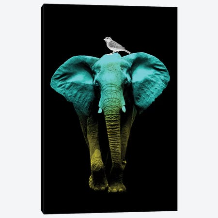 Friends For Life Fluoro Canvas Print #ZEP132} by Vin Zzep Canvas Art Print