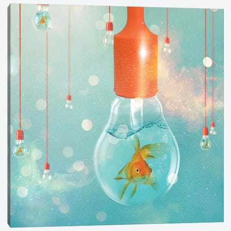 Goldfish Ideas II Canvas Print #ZEP140} by Vin Zzep Canvas Artwork