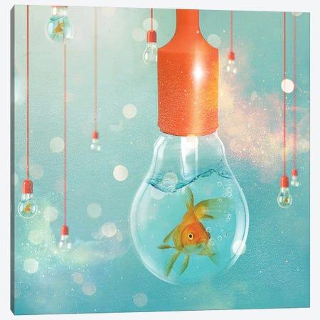 Goldfish Ideas II Canvas Print #ZEP140} by Vin Zzep Canvas Artwork