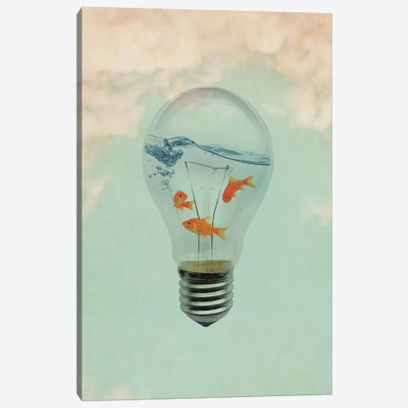 Ideas And Goldfish I Canvas Print #ZEP142} by Vin Zzep Canvas Art