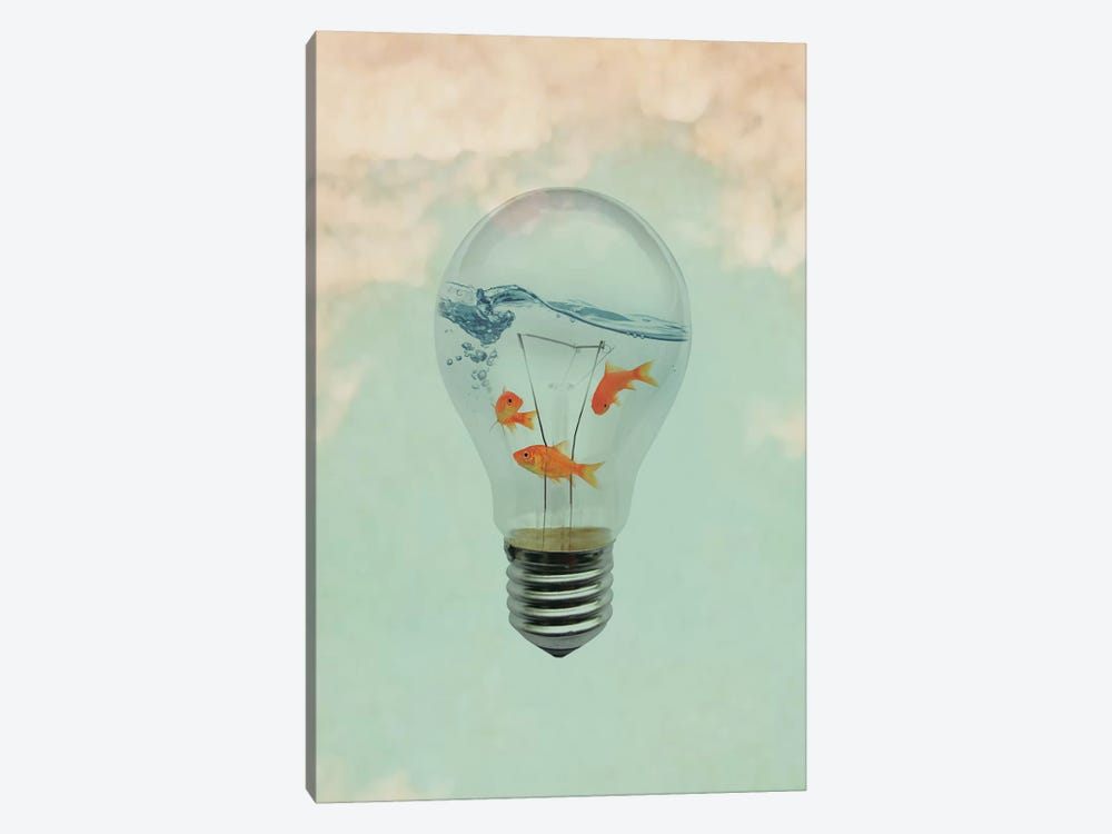 Ideas And Goldfish I by Vin Zzep 1-piece Art Print