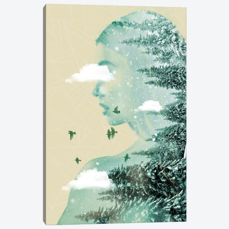 Drifting On A Cloud Canvas Print #ZEP14} by Vin Zzep Canvas Artwork
