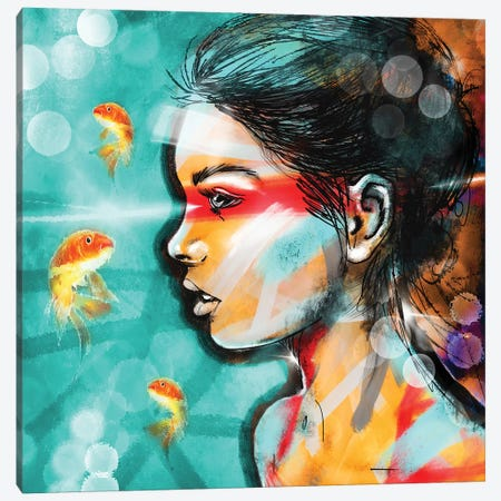 Nova Spike Goldfish Canvas Print #ZEP154} by Vin Zzep Canvas Wall Art