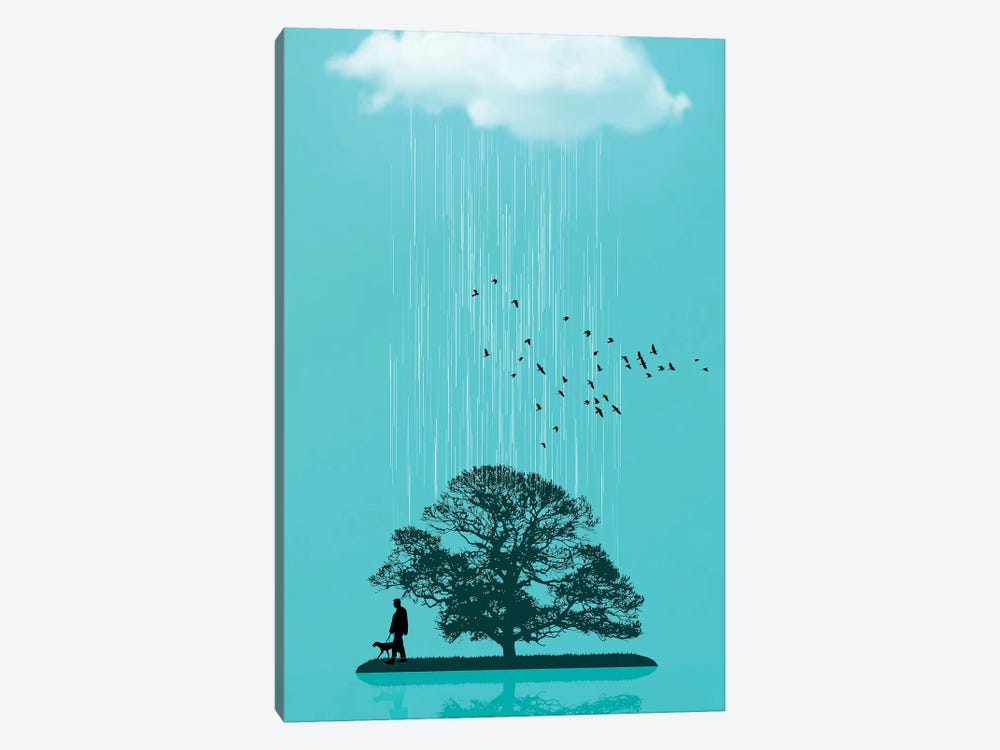 One Tree Hill by Vin Zzep 1-piece Canvas Wall Art & One Tree Hill Canvas Artwork by Vin Zzep | iCanvas