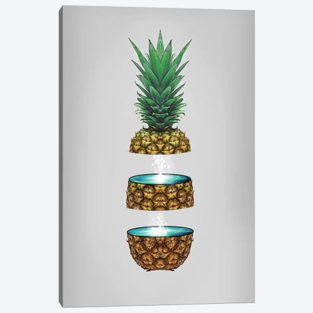 Pineapple Space Canvas Print #ZEP160} by Vin Zzep Canvas Artwork